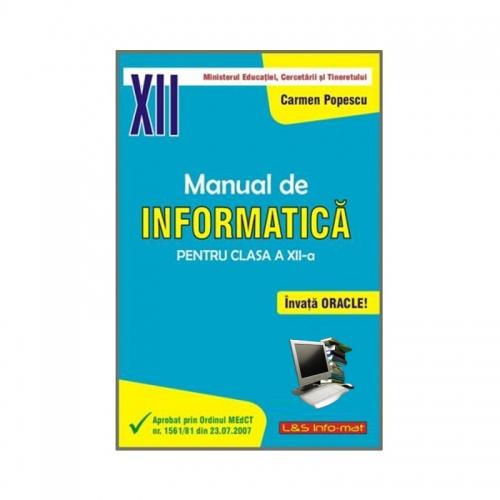 Manual de Informatică, clasa a XII-a (Baze de date, Oracle)
