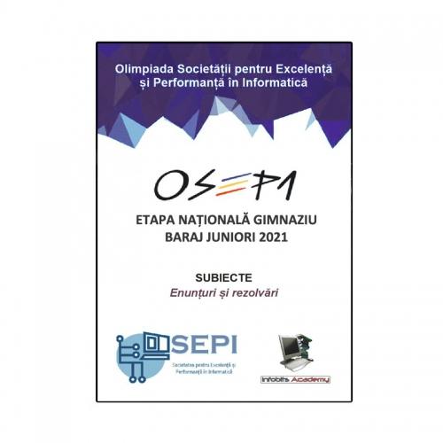 OSEPI, Etapa Nationala Gimnaziu - Baraj Juniori 2021