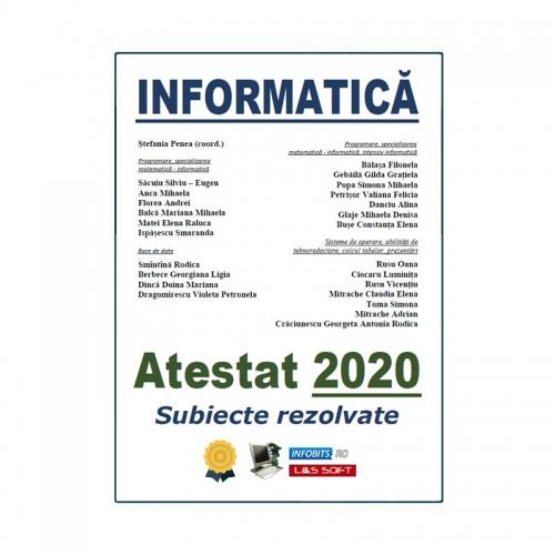 Informatica - Atestat 2020, Subiecte rezolvate